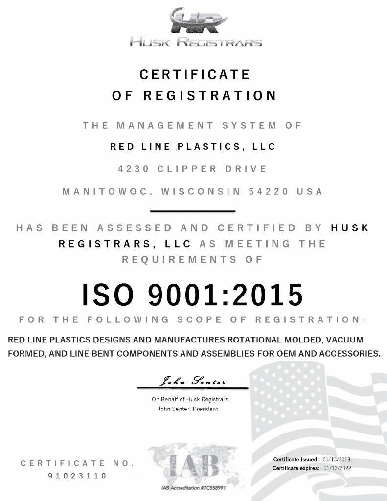 IOS 9001:2015 Certified
